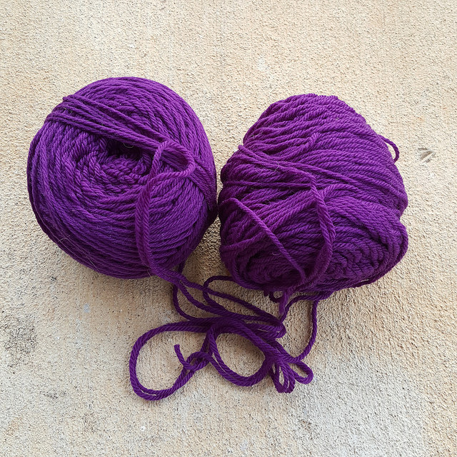 crochetbug, purple, violet, yarn stash, use what you have, waste not want not