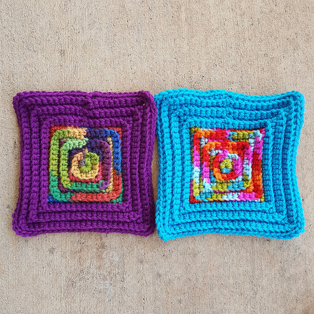 crochetbug, crochet squares, textured crochet squares, back loop only, crochet squares, crocheted, crocheting