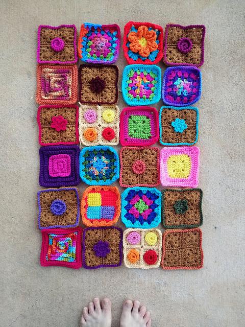 crochetbug, crochet, crochet squares, granny squares, crochet flowers, textured crochet squares, crochet roses