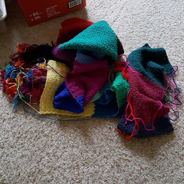 crochetbug, crochet ur-tangle, random pieces of crochet