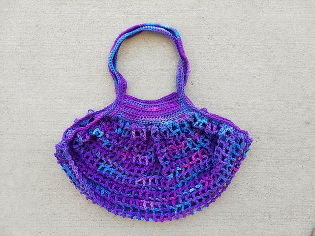 A grape fizz crochet mesh bag