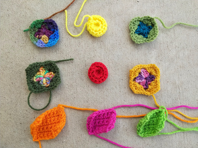 nine more crochet remnants in need of crochet rehab