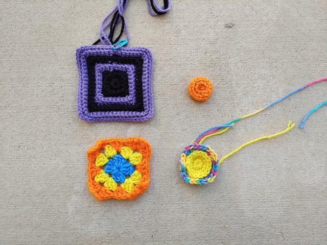 Four more crochet remnants for crochet rehab
