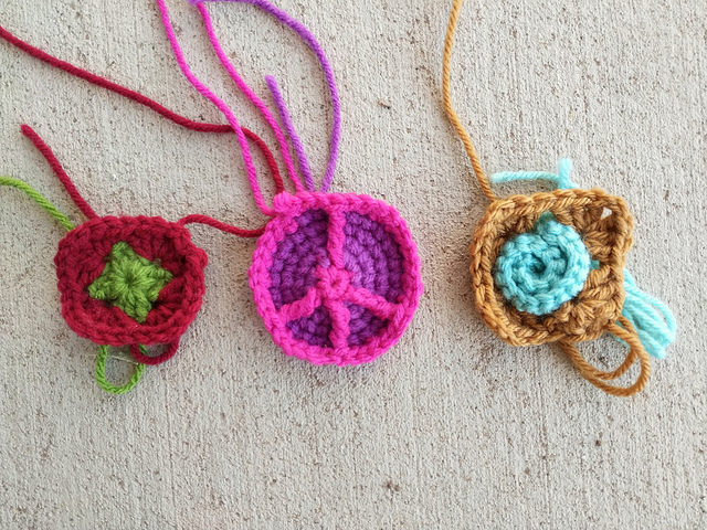 Three crochet remnants for crochet rehab