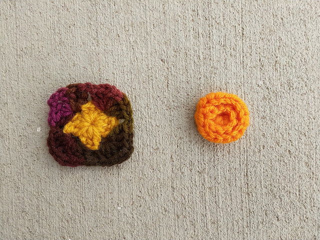Two more crochet remnants that I found while sorting through my things
