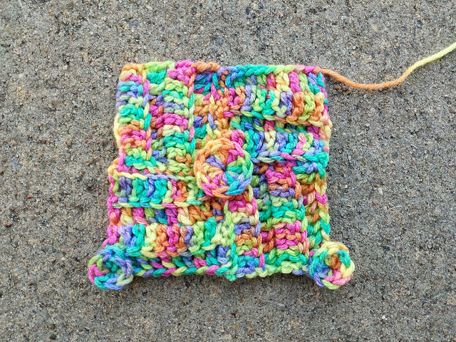 A textured crochet remnant from the distant past that I unearthed when I was working on my crochet decluttering