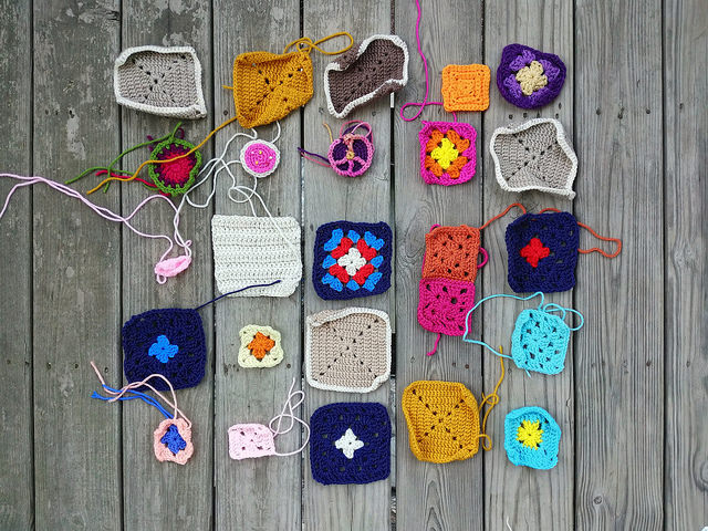 Twenty-five new crochet remnants from the yarn slug