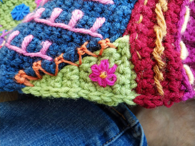 I try out a Sorbello stitch