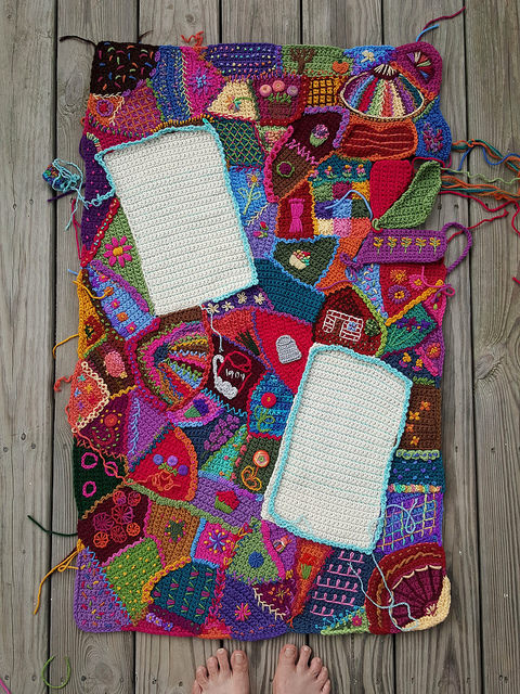 An overview of the center crochet panel of my 218 North Carolina State Fair project