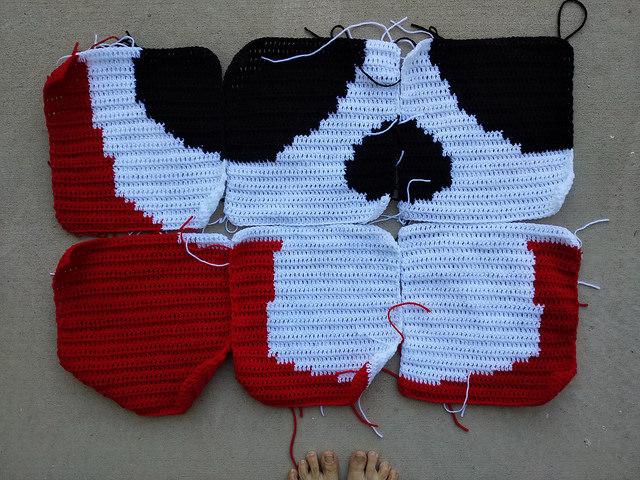 A future Day of the Dead crochet installation