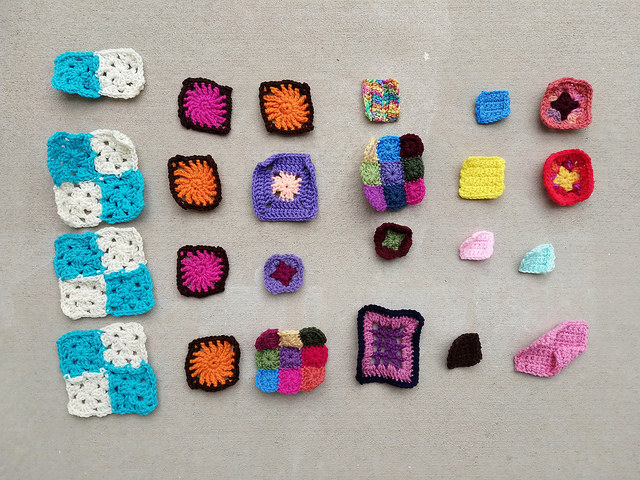 The rehab of two dozen crochet remnants begins