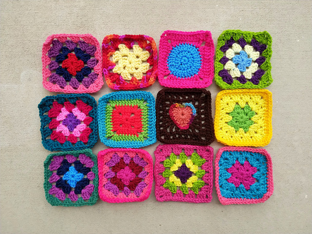 Twelve newly rehabbed crochet remnants