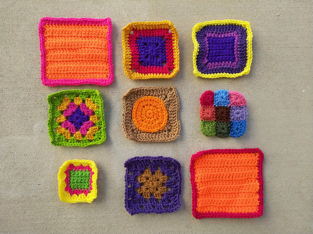 The nine crochet remnants after a second round of crochet rehab