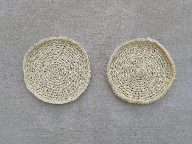 Two future felted sugar cookie inspired crochet potholders