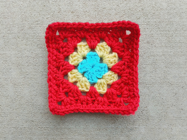The missing crochet remnant after being both found and rehabbed