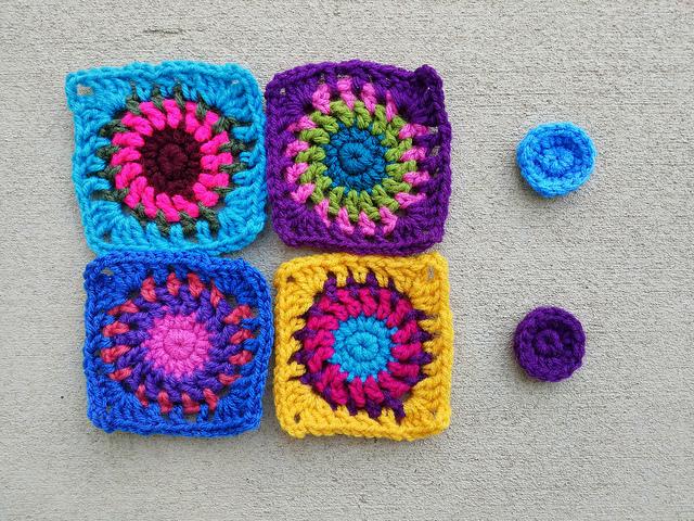 The pieces of a future boho crochet purse
