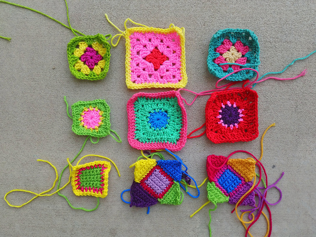 I finish a second round of crochet rehab on nine crochet remnants