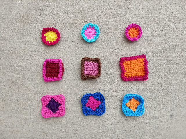 The first round of rehab for another nine crochet remnants
