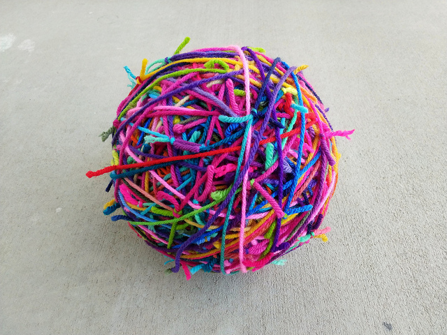 The magic scrap yarn ball gets a little bigger