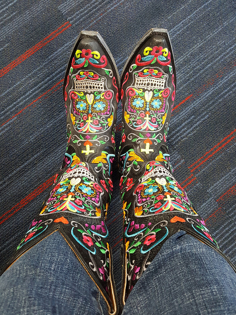 My Day of the Dead boots as they appear to me