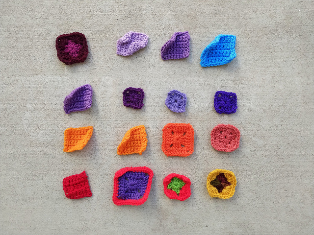 Twenty substitute crochet remnants