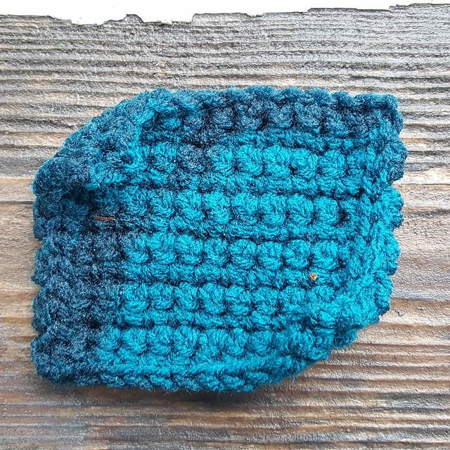 A rain soaked crochet square