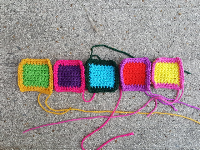 Five crochet remnants mid rehab