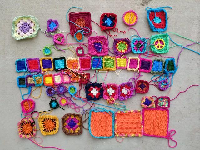Progress rehabbing the crochet remnants