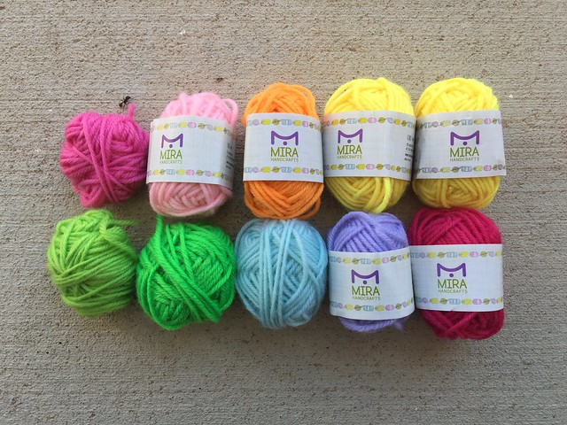 Another rainbow of adorable mini skeins of yarn
