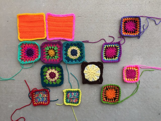 Another round of rehab for thirteen crochet remnants as my journey nears the end
