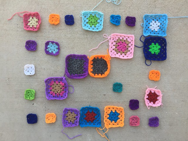 Progress on rehabbing the twenty-seven crochet remnants