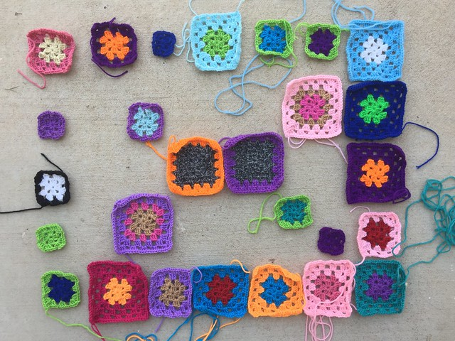 Progress on the twenty-seven crochet remnants