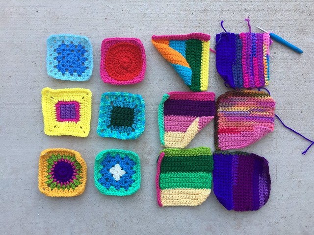 I get crochet rehab done on twelve-ish squares