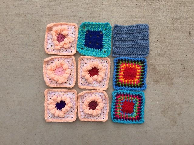 Nine travel ready rehabbed crochet remnants