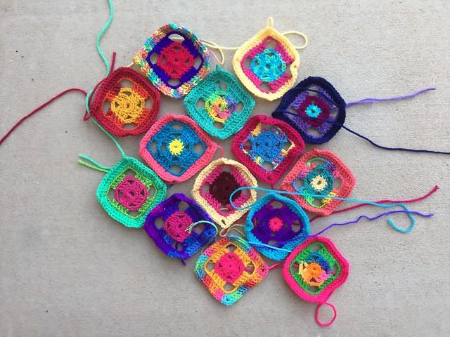 One potential future flamboyant crochet swag bag