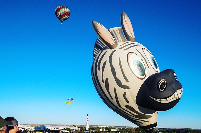 A zebra balloon at the 2019 Albuquerque International Balloon Fiesta