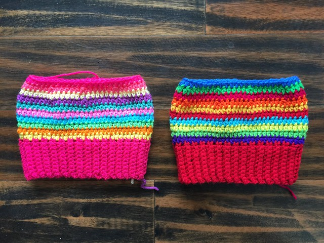 I try to out crochet the forecast of Punxsutawney Phil for an early spring and push to finish two striped crochet hats