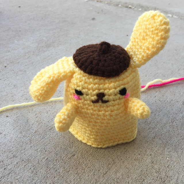 Amigurumi Purin almost ready for adventure