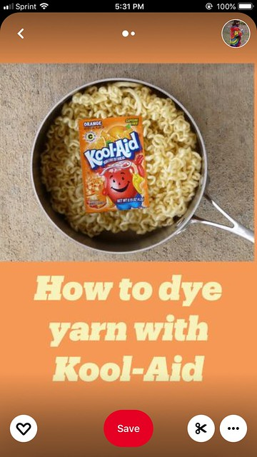 The cover of a Kool-Aid dyeing how-to story pin