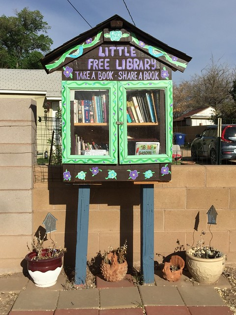 A free library in the Near North Valley, Albuquerque, New Mexico