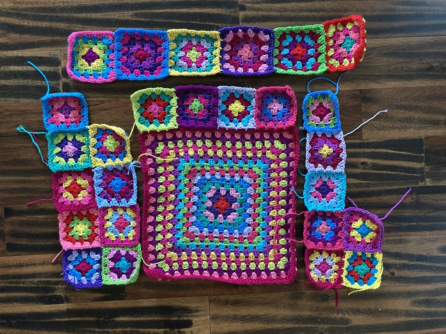 An overview of a future boho granny square cardigan sweater